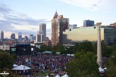View from Metro Atlanta Chamber Rooftop Pavilion. Private view of Outkast Concert. Photos by Jack Parada Photography