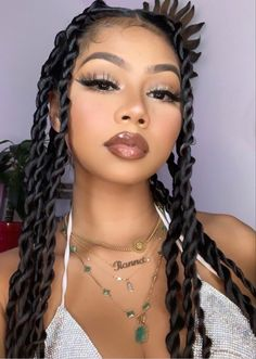 makeup for hoco Baddie Hairstyles, African Hairstyles, Girl Hairstyles, Braided Hairstyles, Wedding Hairstyles, Hairstyles 2018, Black Hairstyles, Braided Updo, Protective Hairstyles