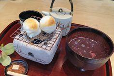 「廚(くりや) 菓子 くろぎ」のお汁粉とコーヒー