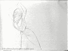 "2dtraditionalanimation: "" Dancer test - Rodolphe Guenoden """