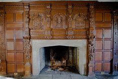 Mansion in May -- Library Fireplace