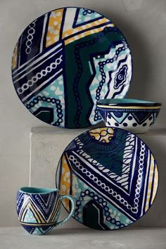 Habari Dinnerware so perfect for your Dinner Party - willkommen Pottery Painting, Ceramic Painting, Ceramic Art, African Interior, African Home Decor, African Furniture, Keramik Design, African Art Paintings, Dinner Sets