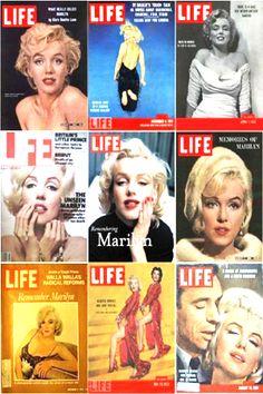 1950s: Marilyn Monroe's LIFE magazine covers .... #marilynmonroe #normajeane #vintagemagazine #pinup #iconic #raremagazine #magazinecover #hollywoodactress #1950s