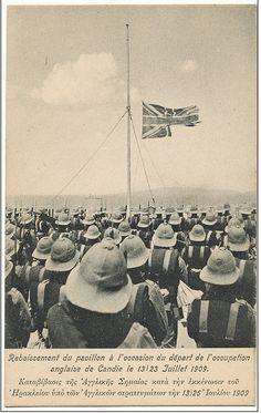 Departure of last British troops; July 1909.