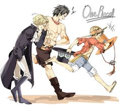 Sabo, Ace and Luffy.