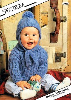PDF Vintage Spectrum 7023 Baby Intricate Aran by TheAtticofKitsch