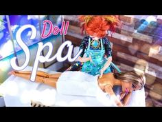 by request: Pamper your Dolls today with this Fabulous DIY Doll Spa! Craft along with Froggy as she makes a Doll Spa complete with a Massage table, Sauna & m. Massage Table, Spa Massage, Massage Art, Massage Room, Massage Therapy, Barbie Camper, Barbie House, Barbie Dream, Barbie Dolls Diy