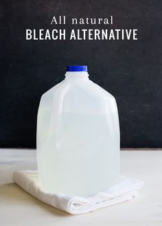 Three simple ingredients combine to create a 100% natural bleach alternative that is safe for cleaning and laundry from HelloNatural.co