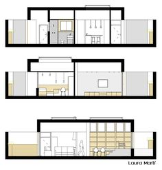 Sections of House & Work space design Workspace Design, Floor Plans, House, Home, Workplace Design, Haus, Floor Plan Drawing, Houses, House Floor Plans