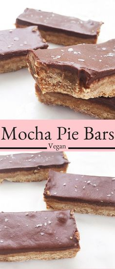 These Mocha Pie Bars are a decadent vegan dessert made with nourishing ingredients such as almond flour and coconut milk. No Bake Desserts, Vegan Desserts, Dessert Recipes, Coconut Milk Desserts, Baking Desserts, Holiday Desserts, Vegan Baking, Healthy Baking, Milk Recipes