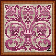 Art Nouveau Motifs Flowers Samplers Monochrome от MyTreasureIsland