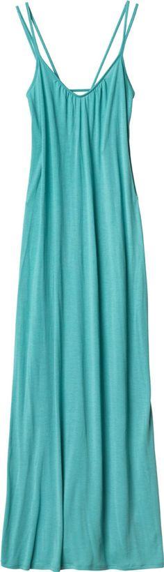 Turquoise Knit Jersey Maxi Dress
