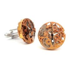 Gold Skeleton Watch Movements cufflinks