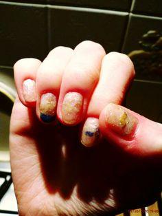 #nail #art decò #unghie #style #stile #mintgreen verde menta #glitter ♡_