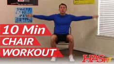 10 Min Chair Workout for Seniors – HASfit Seated Exercise for Seniors – Chair Exercises for Elderly – Health Fitness Gym Stretching Exercises For Seniors, Chair Exercises, Aerobic Exercises, Balance Exercises, Stretches, Arthritis, Gym Workouts, At Home Workouts, Band Workouts