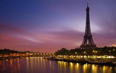 Ah... l'amour. The City of Love at Sunset  Paris, France