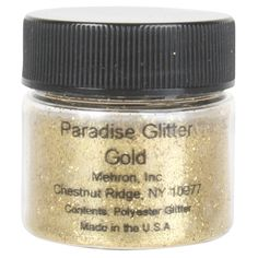 Paradise Glitter uses shimmering full size cosmetic grade polyester glitter particles that produce bold dramatic effects. Mehron Makeup, Gold Glitter, Balloons, Paradise, Cosmetics, Party, Globes, Fiesta Party