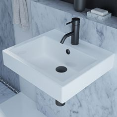 Products | Candana450mm W x 400mm D  Waste: Supplied with white plug and chrome flush fitting waste  Tapholes: 0 or 1 tap holes