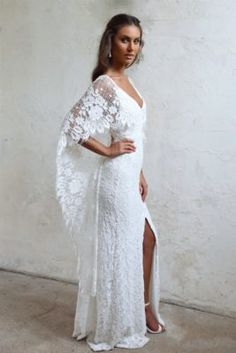 Designed for the wild romantic, our Verdelle gown is effortless, yet captivating. Shop online or book your bridal appointment with Grace Loves Lace today! Mod Wedding, Wedding Bride, Lace Wedding, Wedding Gowns, Grace Loves Lace, Bohemian Wedding Dresses, Bridal Dresses, Cape Sleeve Dress, Wedding Attire