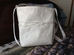Sailcloth tote bag bucket purse cross body zipper by Sailknot