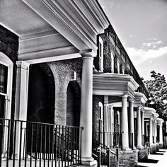Classic row homes in Savannah #architecture