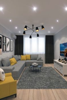 Best Living Room Color Schemes Idea - design for building . Best Living Room Color Schemes Idea - design for building ., Best Living Room Color Schemes Idea - design for building . Living Room Stands, Classy Living Room, Living Room Grey, Living Room Interior, Home Living Room, Lights For Living Room, Living Room Decor Colors Grey, Living Room Decor Yellow And Grey, Yellow Living Room Accessories