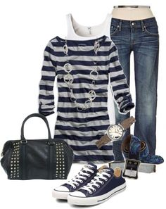 0ca87699b Untitled  401 Navy Converse Outfit