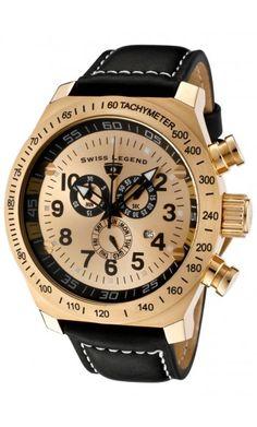 SWISS LEGEND  SL Pilot Chronograph Quartz  Men's Watch 22828.YG.010 $120