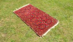 Antique Red Turkoman Area Rug