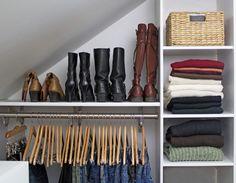 closet organization - boots