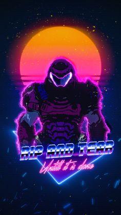 Doom 3, Doom Game, Game Character Design, Character Art, Doom 2016, Beginner Sketches, Arte Ninja, Vaporwave Wallpaper, Deadpool Wallpaper