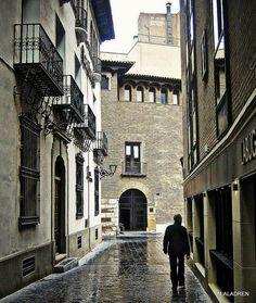 Vista de Zaragoza histórica. Zaragoza España