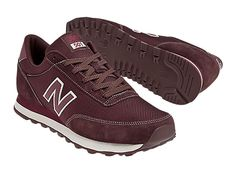 New Balance 501 - Maroon_with_White < i know they're boy's sneakers, but  I love them  ;)