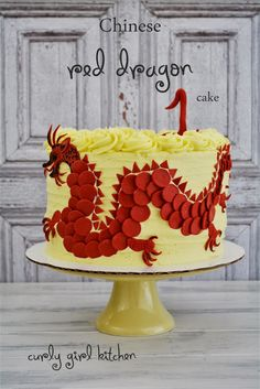 Chinese Red Dragon Cake