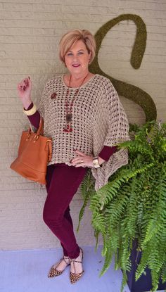 Fashion over 40 Poncho series, 2 of 5 @50isnotold.com