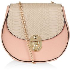 Stone Contrast Textured Chain Across Body Bag ($11) ❤ liked on Polyvore featuring bags, handbags, shoulder bags, oatmeal, chain strap purse, crossbody shoulder bags, chain handbag, pink cross body purse and pink crossbody purse