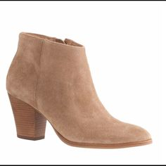 "J. Crew Laine Bootie Brand new J. Crew ""Laine"" suede ankle boot. Brand new, in box. Originally $248 2 7/8"" heel Suede upper Leather lining Import J. Crew Shoes Heeled Boots"