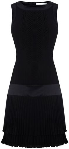 Karen Millen Fun Pleat 20s Dress in Black