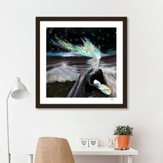 Discover «mermaids gift», Exclusive Edition Fine Art Print by Kayla Marie Pruyssers - From $25 - Curioos Mermaid Gifts, Mermaids, Artworks, Fine Art Prints, Ink, Painting, Color, Design, Art Prints