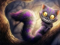 The Cheshire Cat Alice In Wonderland Fantasy Grin Kitty Mystery   Wallpaper