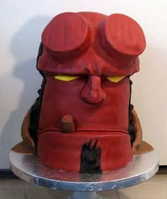 Hellboy Cake! my son would love this cake!! he loves hellboy