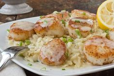 Scallops with White Wine Beurre Blanc and Lemon Orzo Recipe