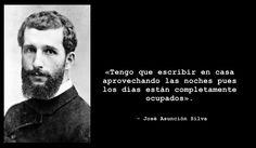 Hoy es el 150 aniversario de este, magnífico poeta colombiano. Podéis leer sus poesías en http://www.poemas-del-alma.com/jose-asuncion-silva.htm