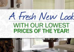 A fresh new look - with our lowest prices of the year!