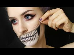 Products: Snazaroo Face Paints - white & black NYX Primal Color - black Ardell Demi Whispies Makeup Geek eyeshadows - Peach Smoothie & Bitten Saucebox Etude ...