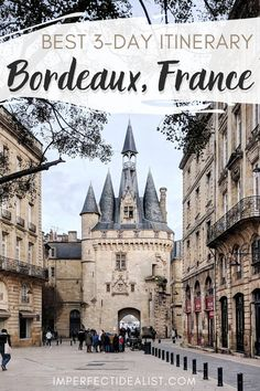 Here& a itinerary of the best things to do in Bordeaux, France. Includes the best photo spots, iconic monuments, aesthetic cafes, and prettiest day trips. Backpacking Europe, Europe Travel Tips, Places To Travel, Travel Abroad, Budget Travel, European Destination, European Travel, European Fashion, Monteverde