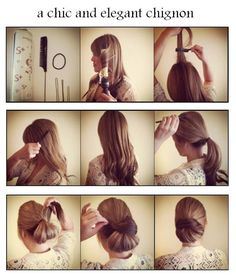 Make a chic and elegant chignon   hairstyles tutorial