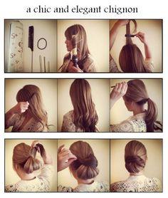 Peinado elegante