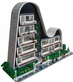 Wave Building: A LEGO® creation by Joaquín Cantolla : MOCpages.com