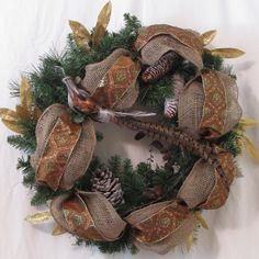 Handmade Pheasant Christmas Wreath